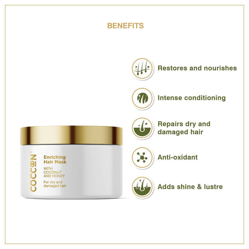 Shop Enriching Hair Mask from Coccoon on SublimeLife.in. Best for repairing dry and damaged hair.