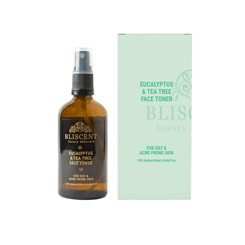 Shop Eucalytus & Tea Tree Face Toner from Bliscent on SublimeLife.in. Best for shrinking blocked pores and reducing acne.