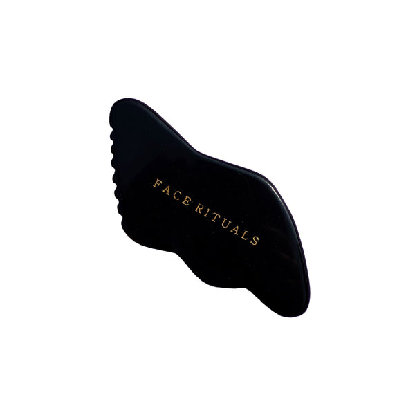 Shop Black Obsidian Gua Sha from Face Rituals on SublimeLife.in. Best for promoting good blood circulation.
