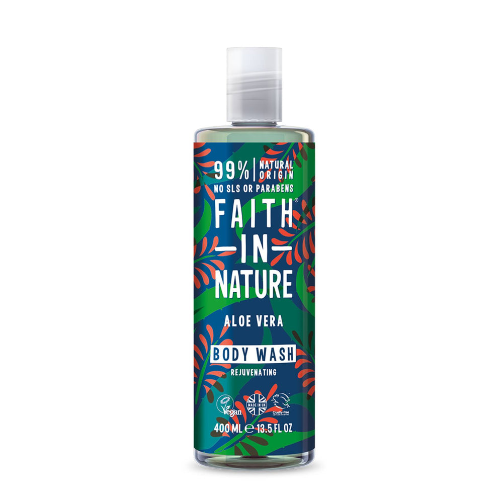 This is an image of Faith in Nature Aloe Vera Body Wash on www.sublimelife.in