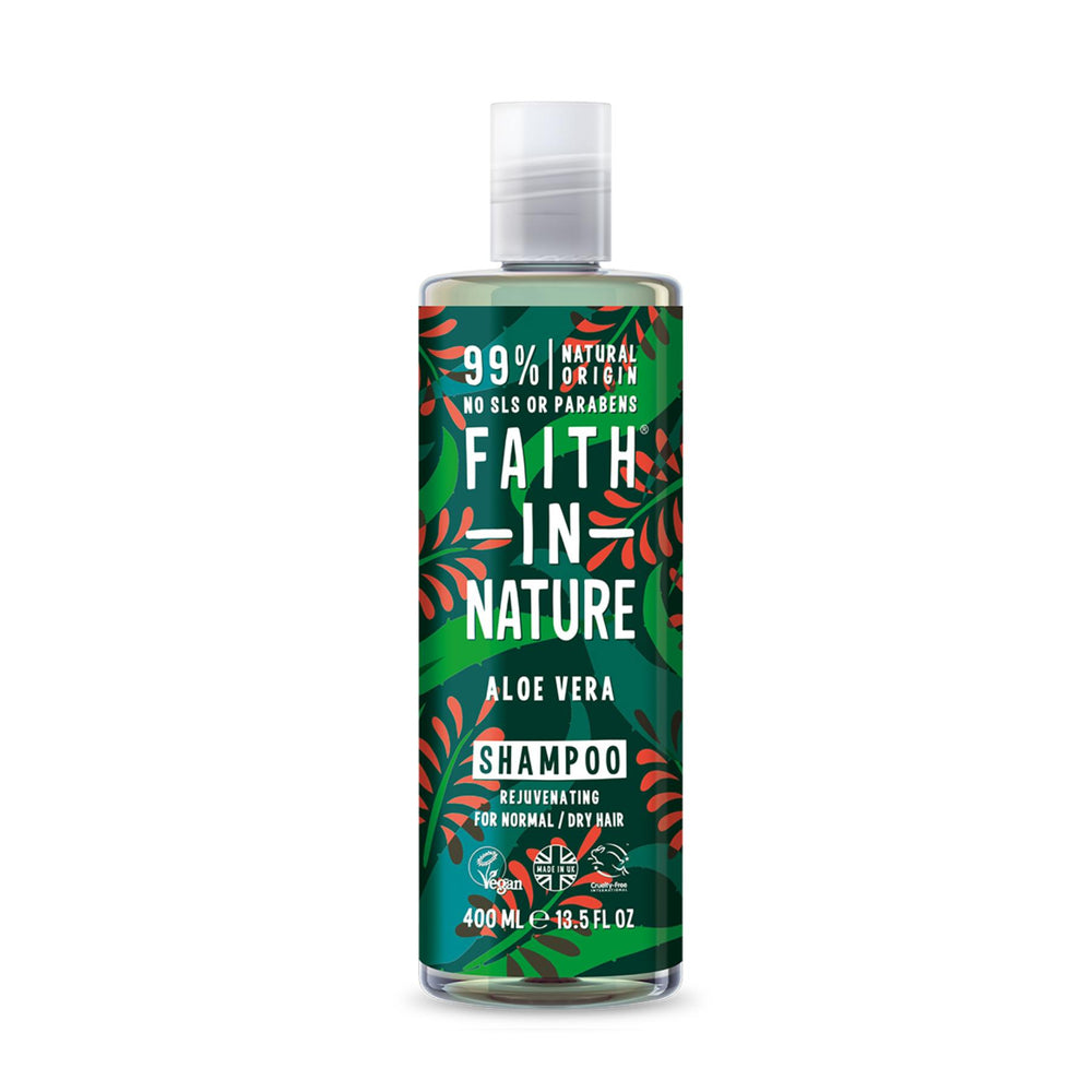 This is a image of Faith In Nature Aloe Vera Shampoo on www.sublimelife.in