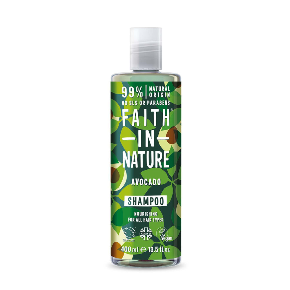 This is an image of  Faith in Nature's Avocado Shampoo on www.sublimelife.in