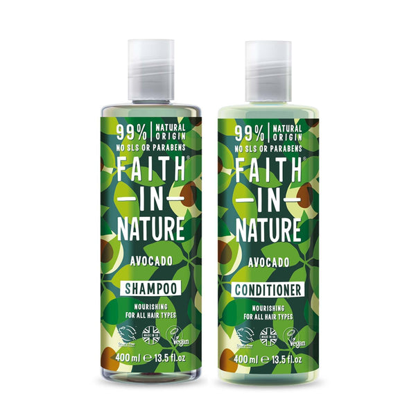 Shop Avocado Shampoo and Conditioner Combo from Faith in Nature on SublimeLife.in. Best for revitalising your hair.