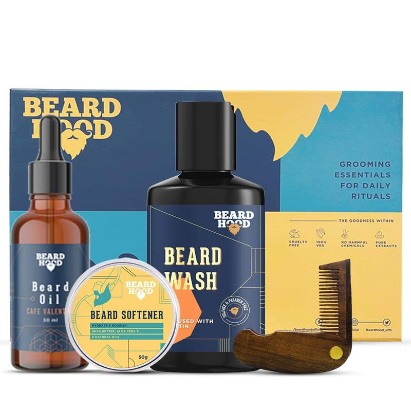 Shop Grooming Kit for Beard Care from BeardHood on SublimeLife.in. Best for perfect care for your beard.