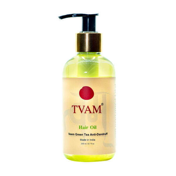 Shop Hair Oil - Neem green Tea Anti-Dandruff from Tvam on Sublime Life. Helps in preventing dandruff.