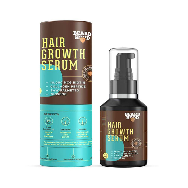 Shop  Beard and Hair Growth Serum from Beardhood on SublimeLife.in. Best for promoting growth of beard and hair.