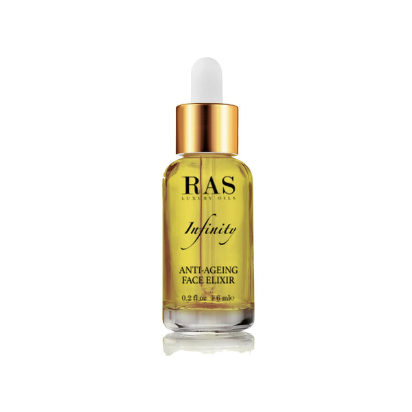 Shop Infinity Anti-Ageing Face Elixir(6 ml) from Ras Luxury Oils on SublimeLife.in. Best for pigmentation and glowing skin.