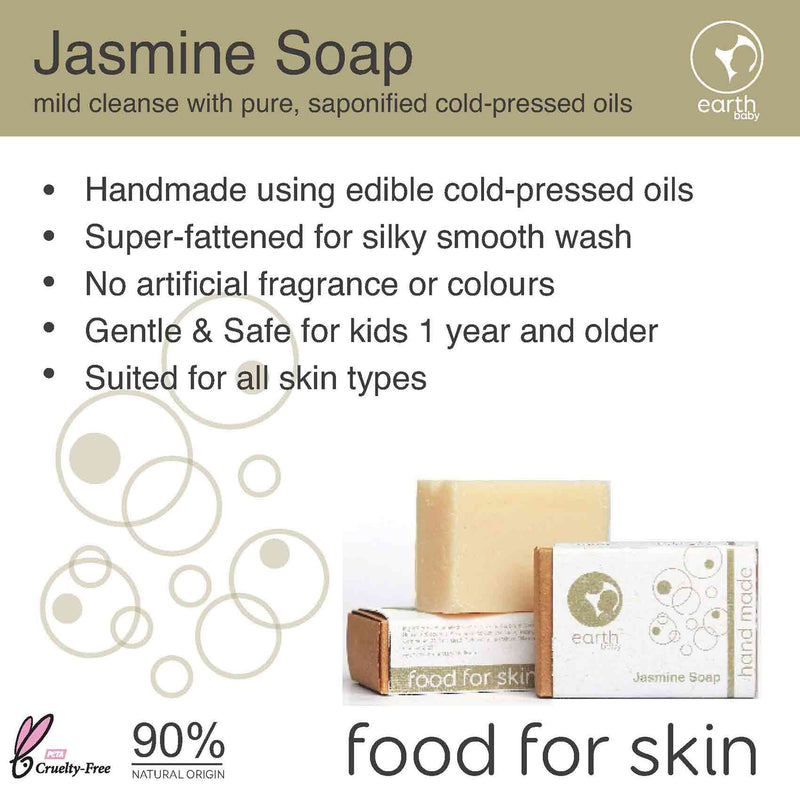 Shop Jasmine Handmade Soap from earthBaby on SublimeLife.in. Best for cleansing, moisturising and soothing your baby's skin.