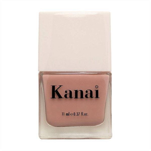 This is an image of Nail Paint - Naked from Kanai Organics on SublimeLife.in. The colour is a creamy nude and it is made from toxic-free ingredients.