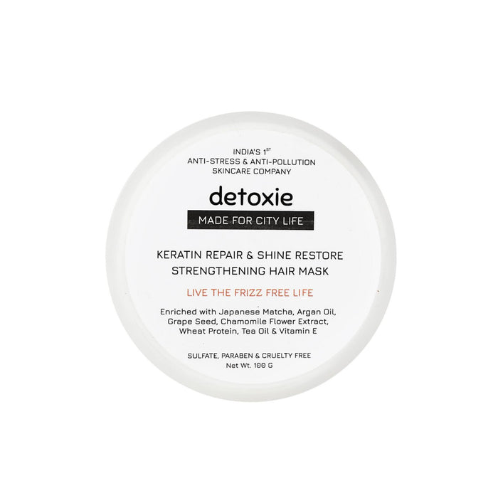 This is an image Keratin repair and shine restore hair mask from Detoxie on www.sublimelife.in.