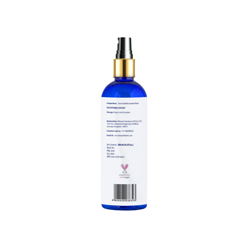 Shop Lavender Water Facial Mist from Veda Earth on SublimeLife.in. Best for reducing signs of aging and soothing our skin.