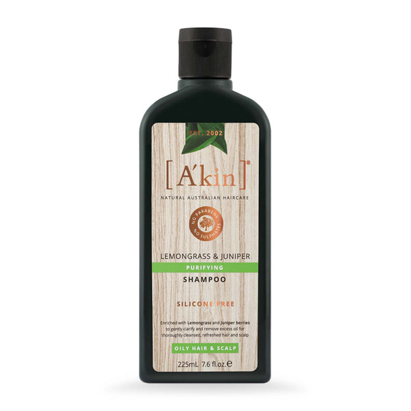 Shop Akin's Lemongrass & Juniper Purifying Silicon Free Shampoo from Sublime Life. Helps in hydrating the scalp.