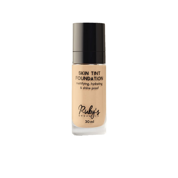 This is an image of L 01-Skin-tint Mattifying Foundation from Ruby's Organics on SublimeLife.in. A lightweight matte foundation for light skin tones.