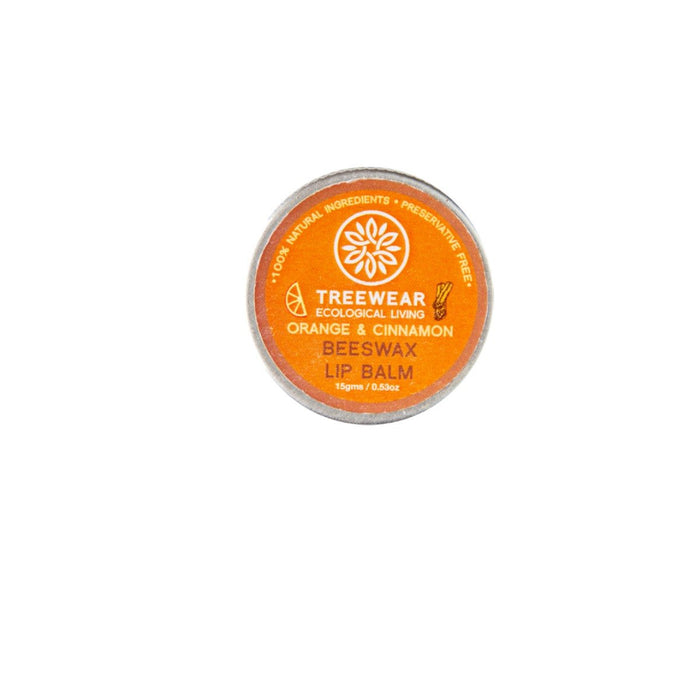 This is an image of Orange and Cinnamon Lip balm from TreeWear on www.sublimelife.in