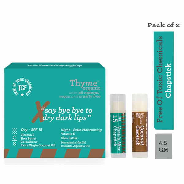 Shop Lip Chapstick from Thyme Organic on SublimeLife.in. Best for getting rid of dry lips and protecting lips from UV rays.