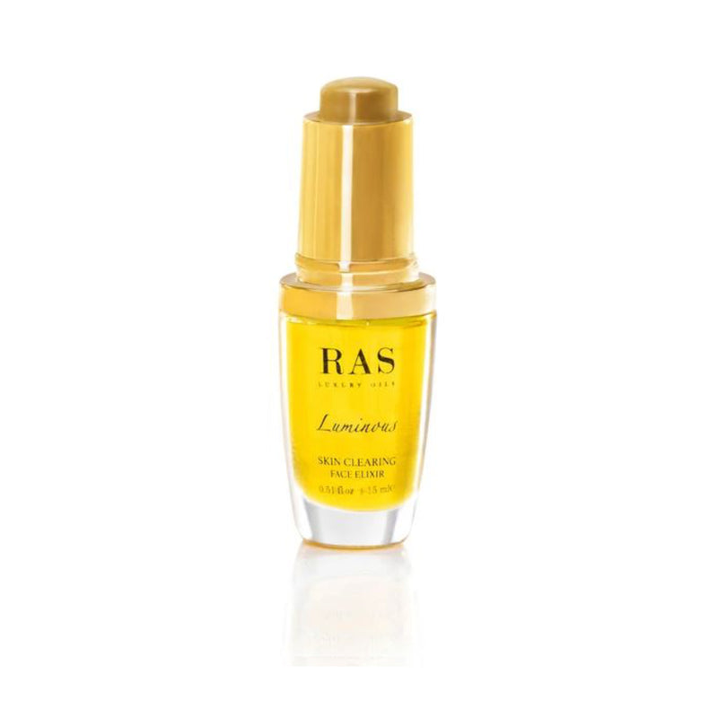 Shop Luminous Skin Clearing Face Elixir from Ras Luxury Oils on SublimeLife.in. Best for reducing acne and inflammation.