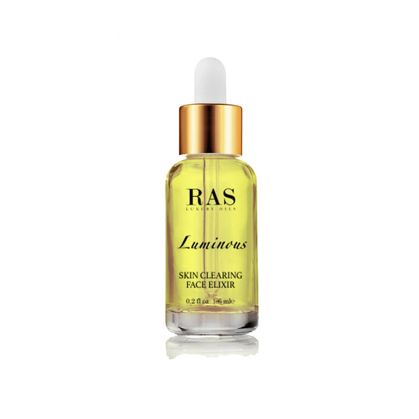 Shop Luminous Skin Clearing Face Elixir(6 ml) from Ras Luxury Oils on SublimeLife.in. Best for  acne and inflammation.