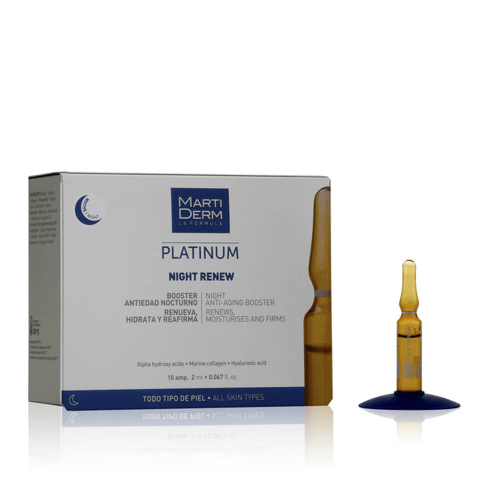 This is skincare ampoule containing AHAs to be used in PM to lighten acne scar from the brand Martiderm