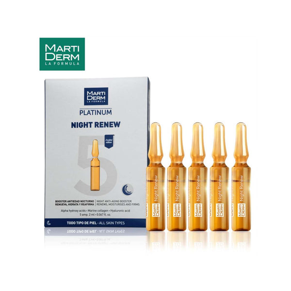 Shop Nigh Renew 10 Ampoules from Martiderm on SublimeLife.in. Best for leaving skin soft and even.