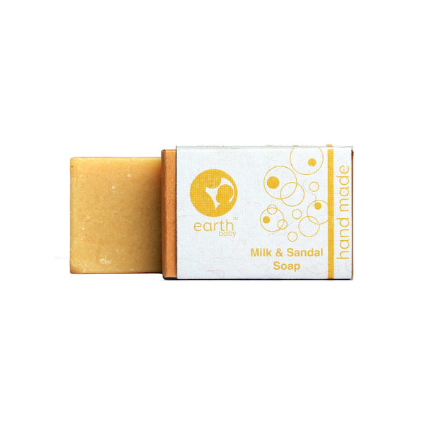Shop Milk and Sandal Handmade Soap from earthBaby on SublimeLife.in. Best for nourishing your baby's delicate skin.