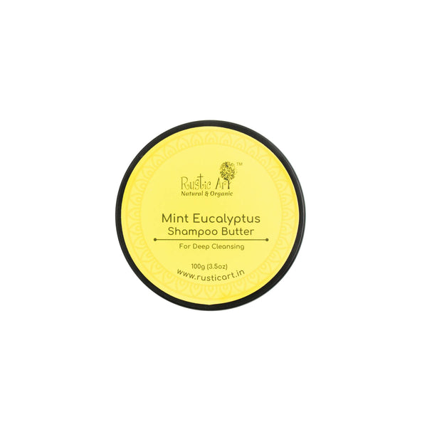 Shop Mint Eucalyptus Shampoo Butter from Rustic Art on SublimeLife.in. Best for moisturising and keeping hair healthy.