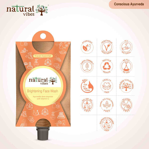 Ayurvedic Vitamin C Brightening Face Wash(Travel Essential)