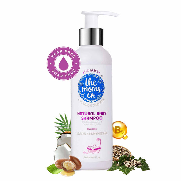 Shop Natural Baby Shampoo from The Mom's Co on SublimeLife.in. Best for gently protecting your baby's hair and scalp.