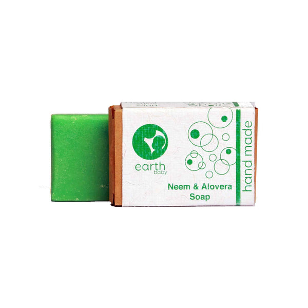 Shop Neem & Aloe Vera Handmade Soap from earthBaby on SublimeLife.in. Best for cleansing, moisturising and soothing skin.