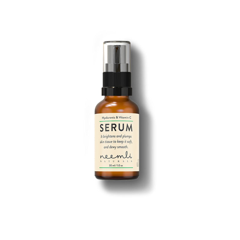 This is an image of Hyaluronic Acid & Vitamin C Brightening Serum from Neemli Naturals on SublimeLife.in. Non-greasy age-defying serum.