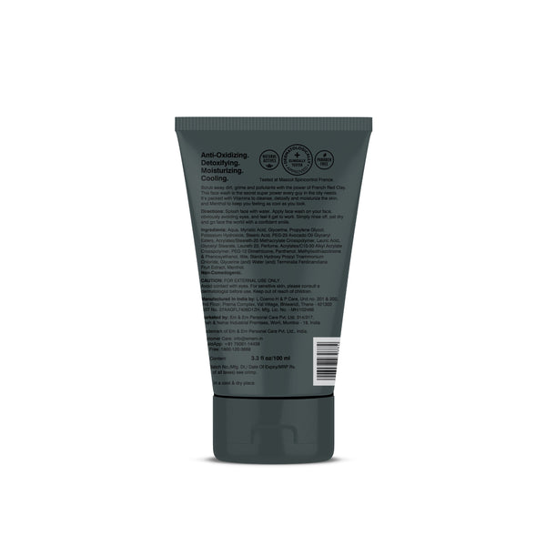 Shop No More Grime French Red Clay Face Wash from Coccoon on SublimeLife.in. Best for all skin types.