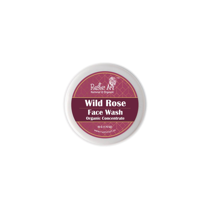 Shop Wild Rose Face Wash Concentrate from Rustic Art on SublimeLife.in. Best for oily to normal skin.