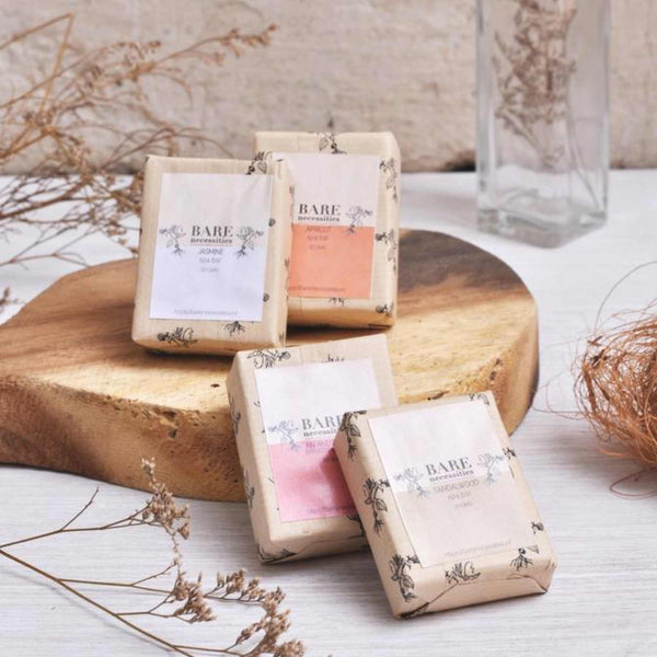 Shop Pack of 4 Small Spa Bars from Bare Necessities on SublimeLife.in. Best for wrinkles and blemishes and to lower stress.