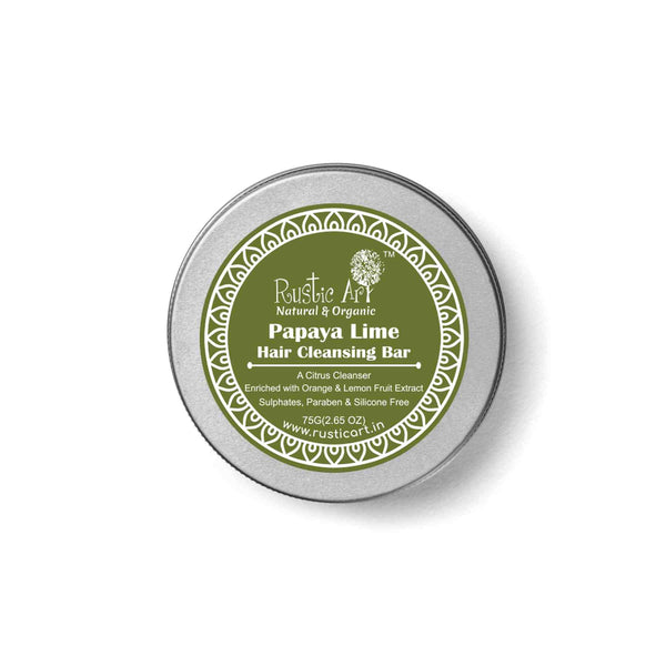 Shop Papaya Lime Hair Cleansing Bar from Rustic Art on SublimeLife.in. Best for keeping the impurities away.