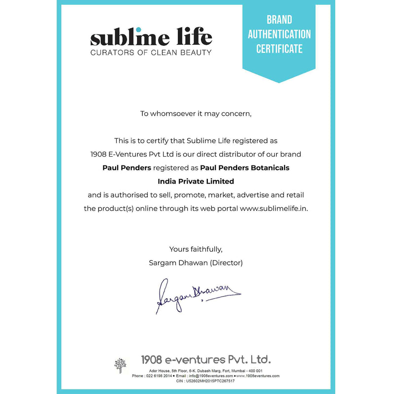 Brand Authentication Certificate-Paul Penders