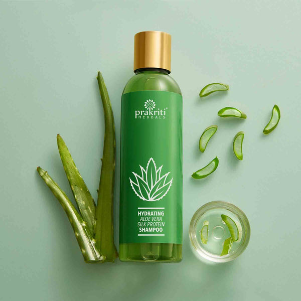 Shop Prakriti Herbals Hydrating AloeVera Silk Protein Shampoo. Best for Dry and damaged hair.