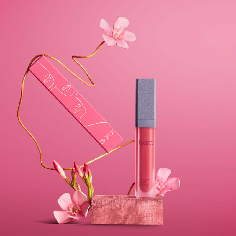Shop Liquid Lip Color: Project Rose from Tsara on SublimeLife.in. Best for all occasions.
