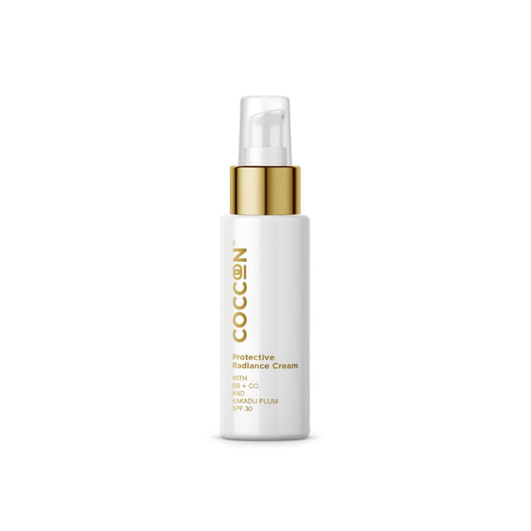 This is an image of Protective Radiance Cream from Coccoon on SublimeLife.in. Repairs skin and keeps it hydrated.