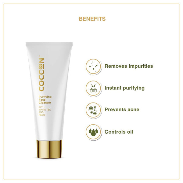 Shop Purifying Face Cleanser  from Coccoon on SublimeLife.in. Best for removing impurities and encourages moisture retention.