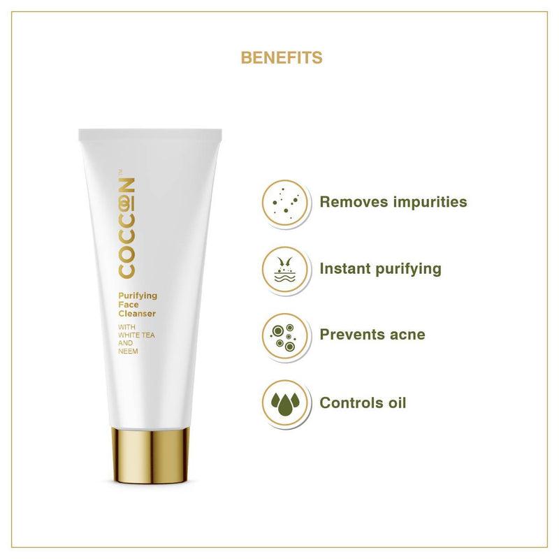 This is an image of Purifying Face Cleanser from Coccoon on SublimeLife.in. It prevents acne and controls oil.
