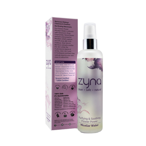 Shop Purifying & Soothing Micellar Water from Zyna on SublimeLife.in. Best for lifting away dirt, oil & makeup.