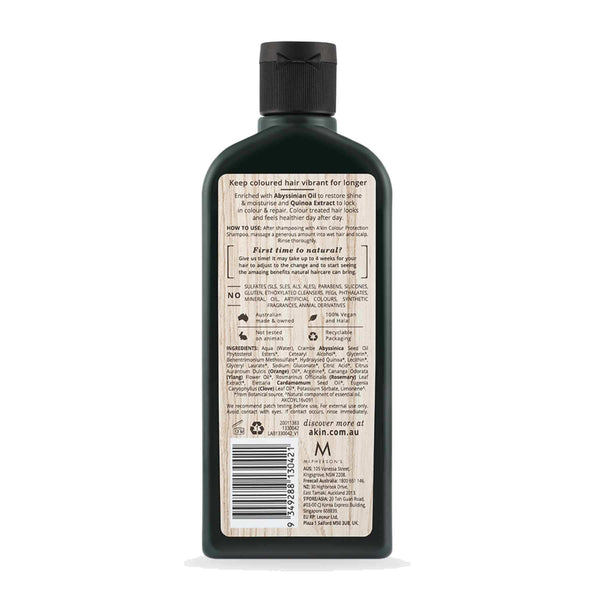 Shop Akin's Quinoa & Abyssinian Oil Colour Protection Silicon Free Conditioner from Sublime Life. Suitable for dry hair.
