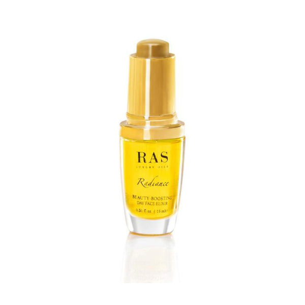 This is an image of Radiance Beauty-Boosting Day Face Elixir with Vitamin C from Ras Luxury Oils on SublimeLife.in. Keeps the skin hydrated and balanced.