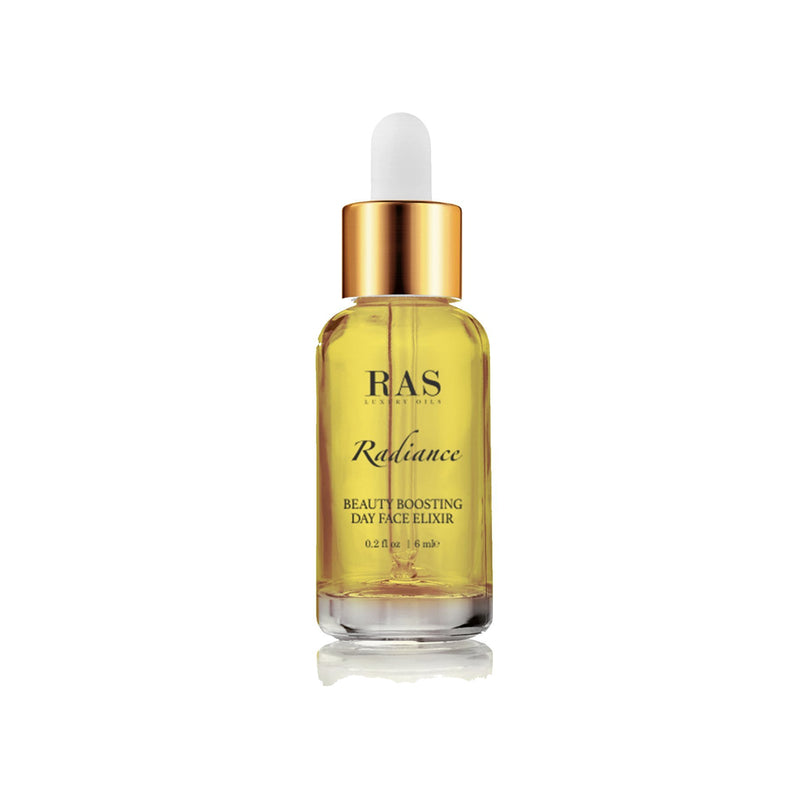 Shop Radiance Beauty Boosting Day Face Elixir(6 ml) from Ras Luxury Oils on SublimeLife.in. Best for a subtle glow.