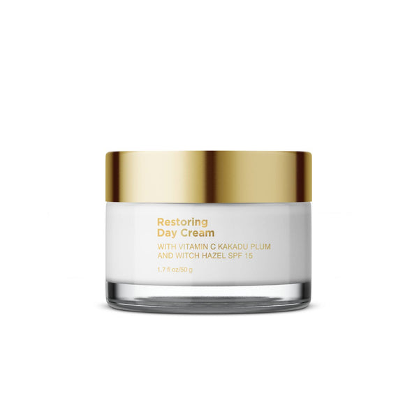 Restoring Day Cream with Vitamin C Kakadu Plum and Witch Hazel, SPF 15 - Sublime Life