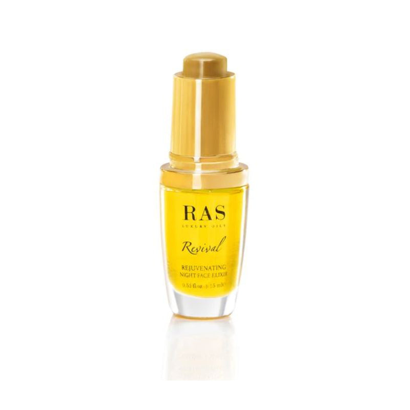 Shop Revival Rejuvenating Night Face Elixir from Ras Luxury Oils on SublimeLife.in. Best for reviving skin while you sleep.