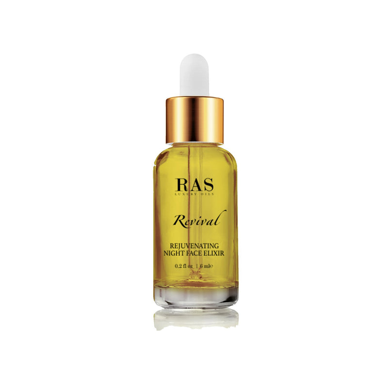 Shop Revival Rejuvenating Night Face Elixir(6 ml) from Ras Luxury Oils on SublimeLife.in. Best for reviving while sleeping.