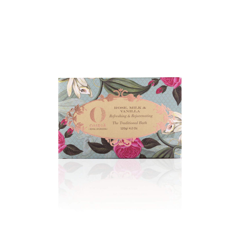 Shop Rose Milk And Vanilla Bathing Bar from Ohria Ayurveda on SublimeLife.in. Best for refreshing and rejuvenating the skin.