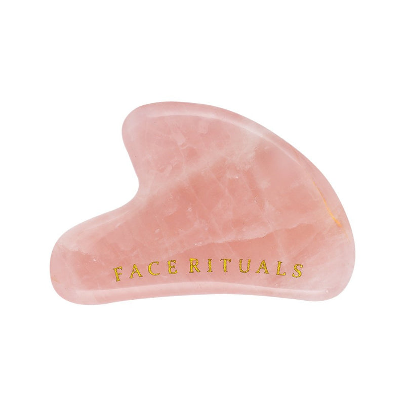 Shop Rose Quartz Gua Sha from Face Rituals on SublimeLife.in. Best for giving a glowing skin