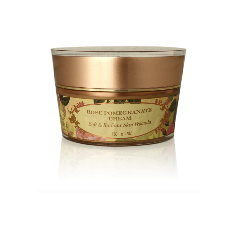 This is an image of Rose & Pomegranate Cream from Ohria Ayurveda on SublimeLife.in. Nourishing skin cream.