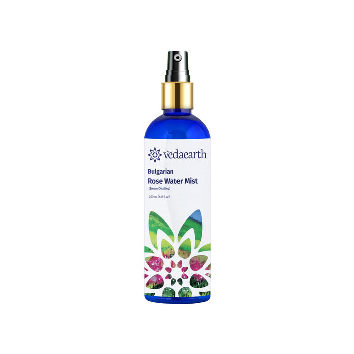 This is an image of Veda earth rose water mist on www.sublimelife.in.